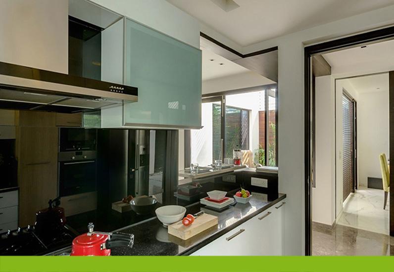 thiết kế phòng bếp giãn biệt thự 3 tầng
