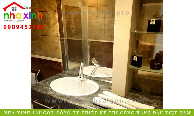 Thiết kế phòng tắm căn nhà phố 3 tầng