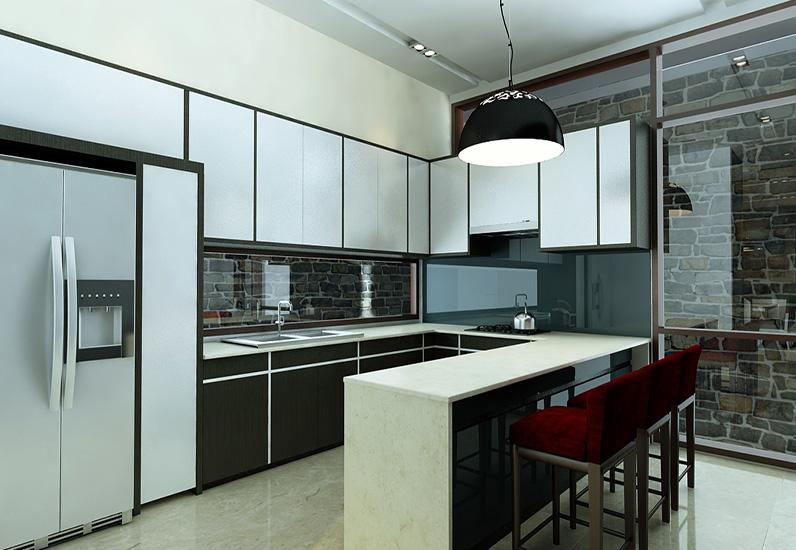 Nhà bếp mẫu biệt thự 4 tầng