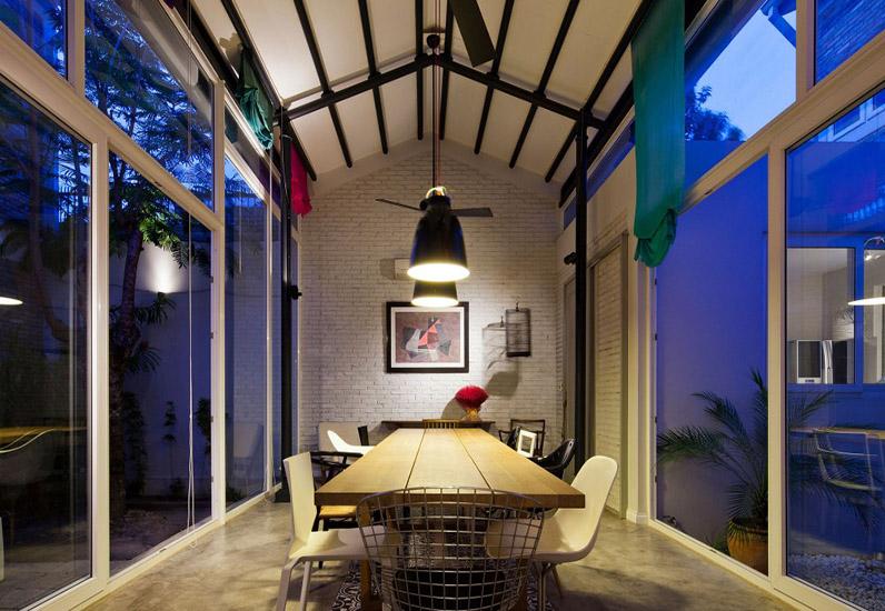 Nội thất phòng ăn nhà phố không gian mở