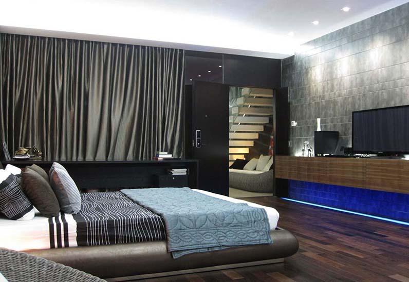 Nội thất phòng ngủ của căn biệt thự hiện đại