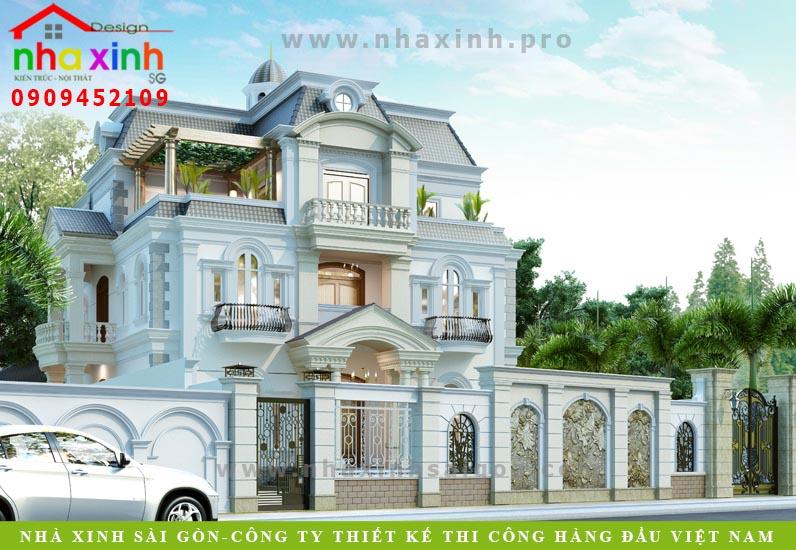 Biệt Thự Cổ Điển Nhà Anh Hòa – Tiền Giang | BT-186