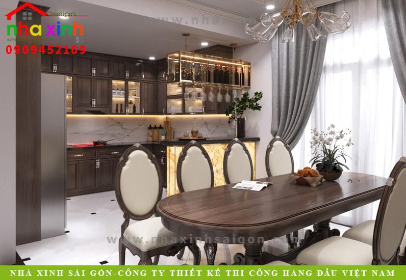 Phòng bếp biệt thự tân cổ điển phong cách Châu Âu | Anh Tân. Ảnh 1
