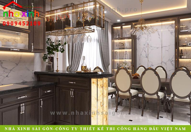 Phòng bếp biệt thự tân cổ điển phong cách Châu Âu | Anh Tân. Ảnh 2