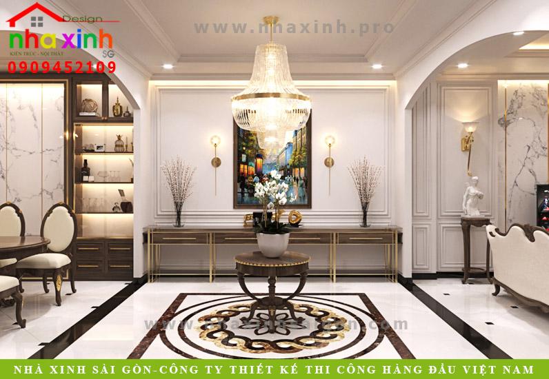 Phòng khách biệt thự tân cổ điển phong cách Châu Âu | Anh Tân. Ảnh 4