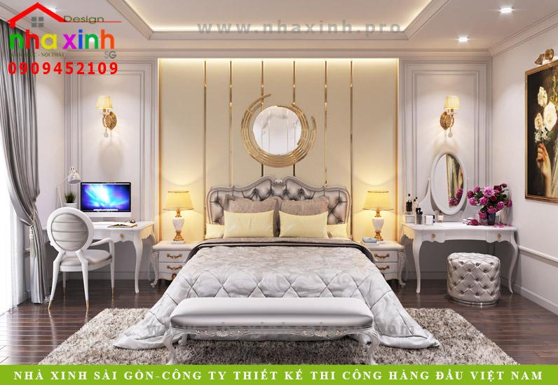 Phòng ngủ biệt thự tân cổ điển phong cách Châu Âu | Anh Tân. Ảnh 1