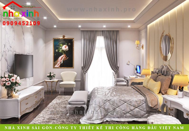 Phòng ngủ biệt thự tân cổ điển phong cách Châu Âu | Anh Tân. Ảnh 2