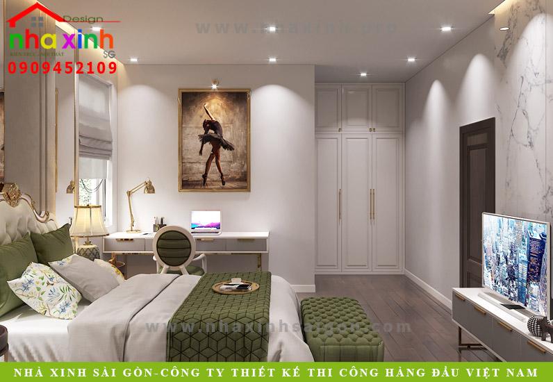 Phòng ngủ biệt thự tân cổ điển phong cách Châu Âu | Anh Tân. Ảnh 4