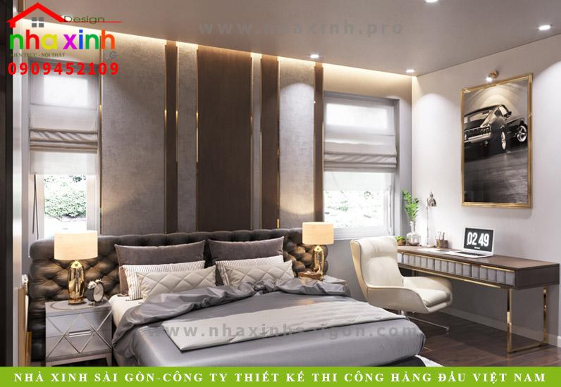 Phòng ngủ biệt thự tân cổ điển phong cách Châu Âu | Anh Tân. Ảnh 5