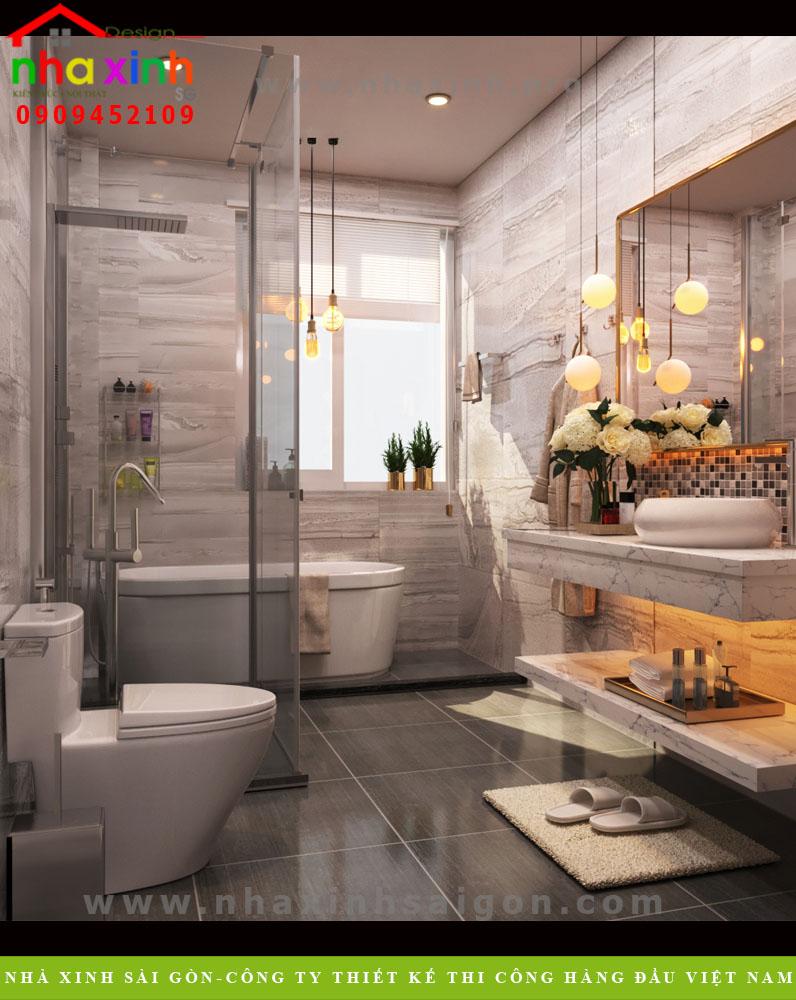 Phòng tắm biệt thự tân cổ điển phong cách Châu Âu | Anh Tân. Ảnh 1