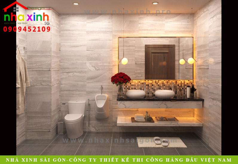 Phòng tắm biệt thự tân cổ điển phong cách Châu Âu | Anh Tân. Ảnh 2