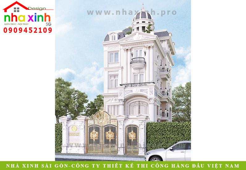 Mẫu Biệt Thự Pháp Mái Vòm Đẹp Tinh Tế | Ông Dũng | Quận 12 | BT-167