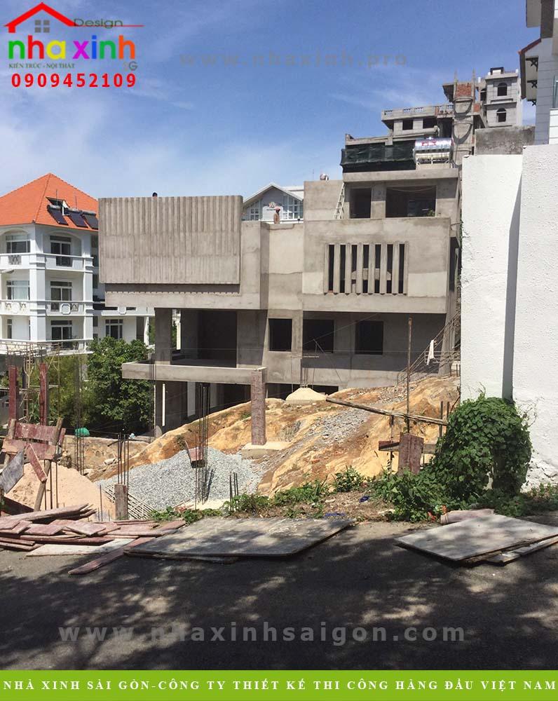 Hình ảnh thi công thực tế biệt thự 3 tầng