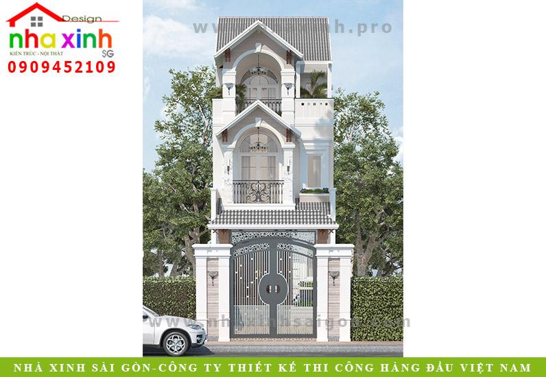 Nhà Phố Cổ Điển 3 Tầng Đơn Giản | Cô Tuyết | Hóc Môn | NP-123