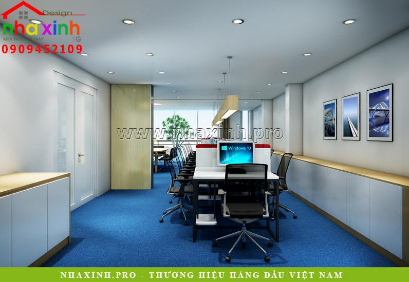 Thiết kế nội thất tầng 2 nhà phố văn phòng