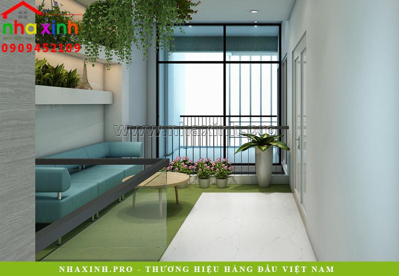 Thiết kế nội thất tầng 1 nhà phố văn phòng