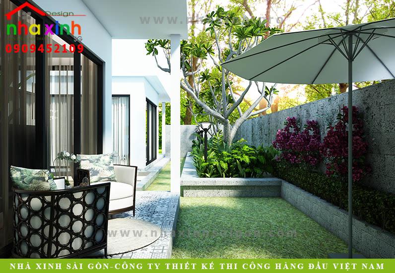 Thiết kế khuôn viên biệt thự vườn hiện đại. Ảnh 3