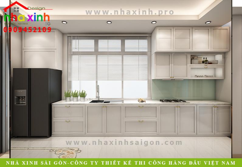 Thiết kế nội thất phòng bếp nhà phố 5 tầng