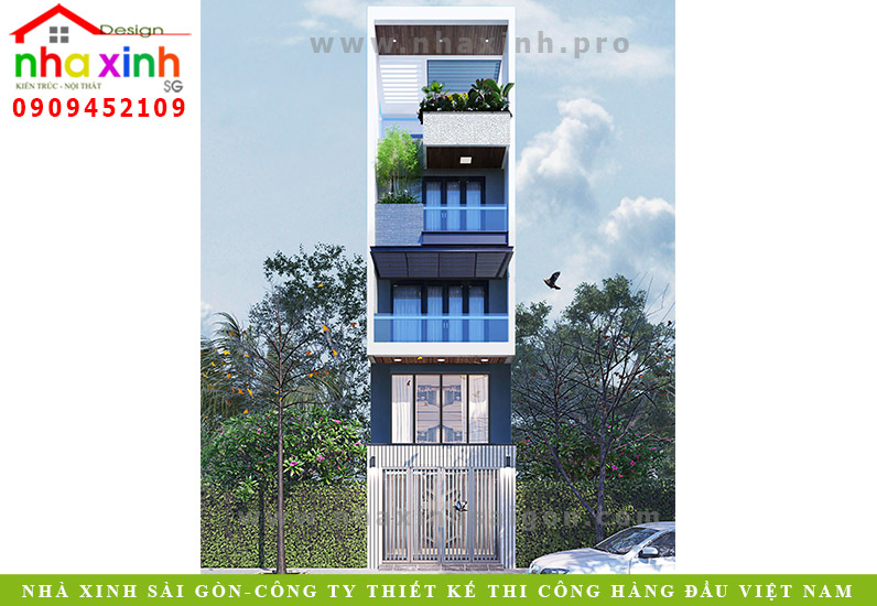 Nhà Phố Đẹp Hiện Đại Dạng Ống 3 Tầng | Anh Hà | Tân Bình | NP-162