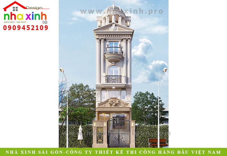 Nhà Phố Cổ Điển Kiến Trúc Mái Vòm Ấn Tượng | Anh Sơn | Quận 12 | NP-168