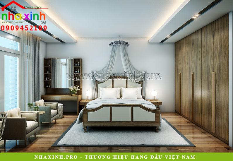 Nhà Phố Đẹp Lô 4 Tầng thiết kế phỏng ngủ