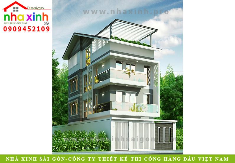 Nhà Phố 1 Trệt 3 Lầu   Anh Sơn   Quận 2   NP-124