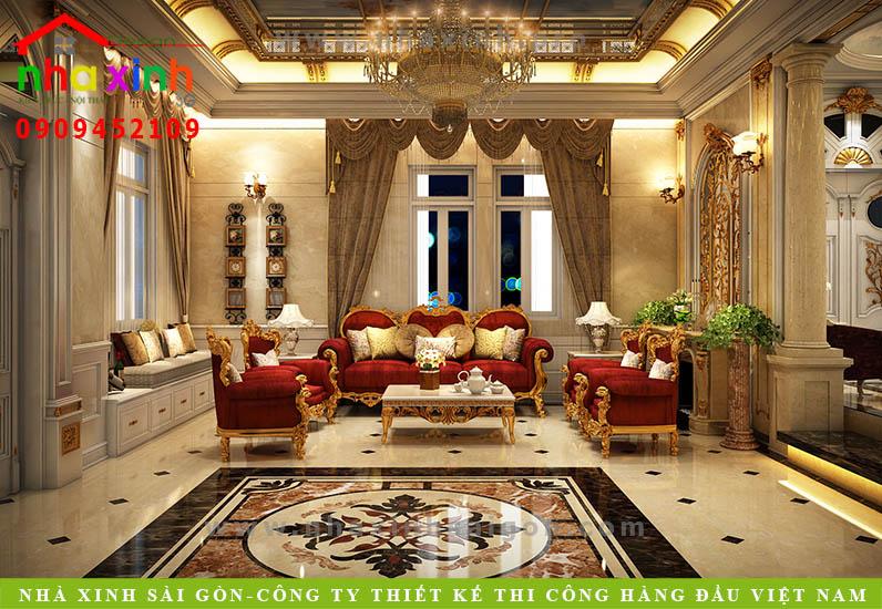 Nội thất phòng khách căn biệt thự cổ điển | Chị Kim Anh. Ảnh 1