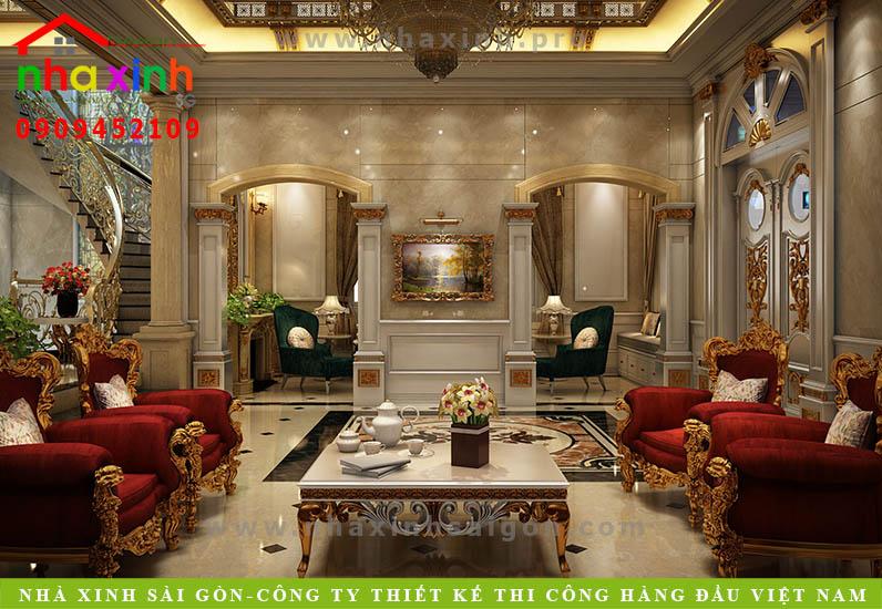 Nội thất phòng khách căn biệt thự cổ điển | Chị Kim Anh. Ảnh 2