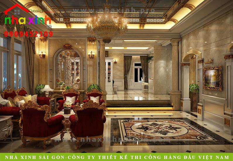 Nội thất phòng khách căn biệt thự cổ điển | Chị Kim Anh. Ảnh 3