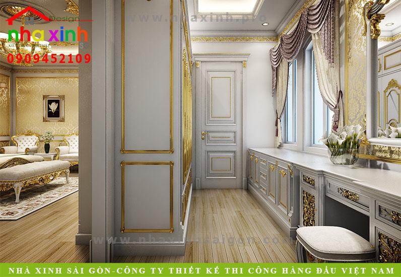 Nội thất phòng Master của biệt thự cổ điển | Chị Kim Anh. Ảnh 1
