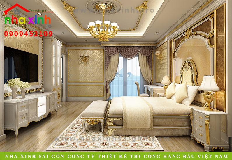 Nội thất phòng Master của biệt thự cổ điển | Chị Kim Anh. Ảnh 5