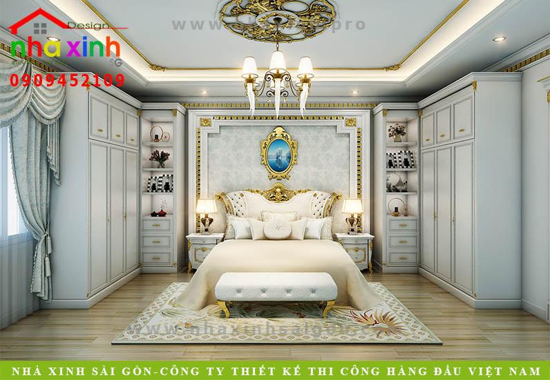 Nội thất phòng ngủ biệt thự cổ điển | Chị Kim Anh. Ảnh 1
