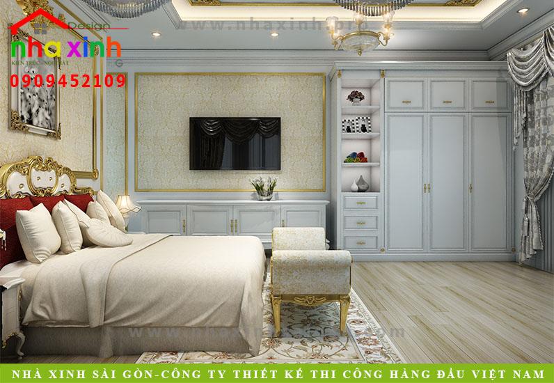 Nội thất phòng ngủ biệt thự cổ điển | Chị Kim Anh. Ảnh 7