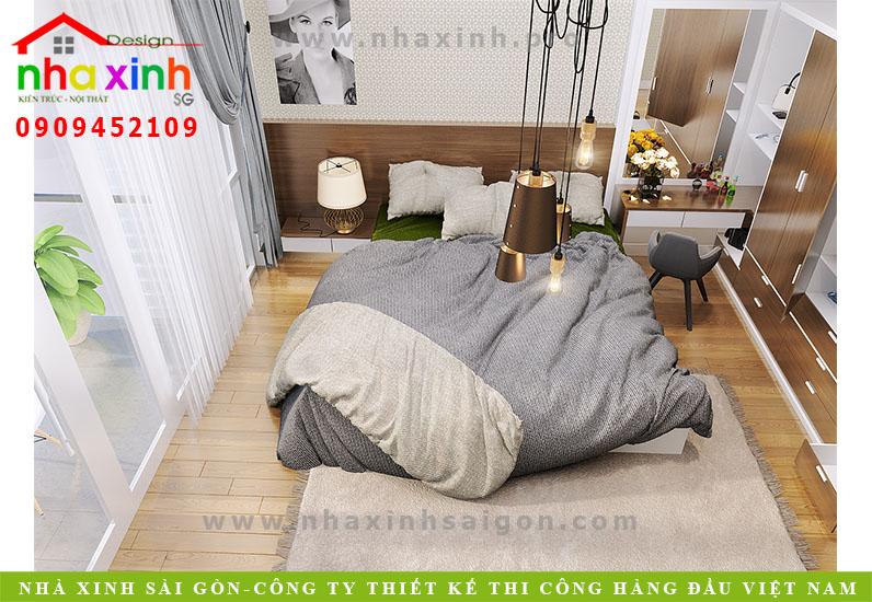 Thiết kế nội thất phong ngủ nhà phố