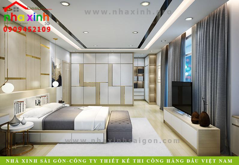 Thiết kế phòng ngủ Master của căn biệt thự vườn 2 tầng