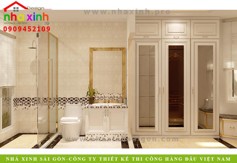 Thiết kế phòng tắm biệt thự phố