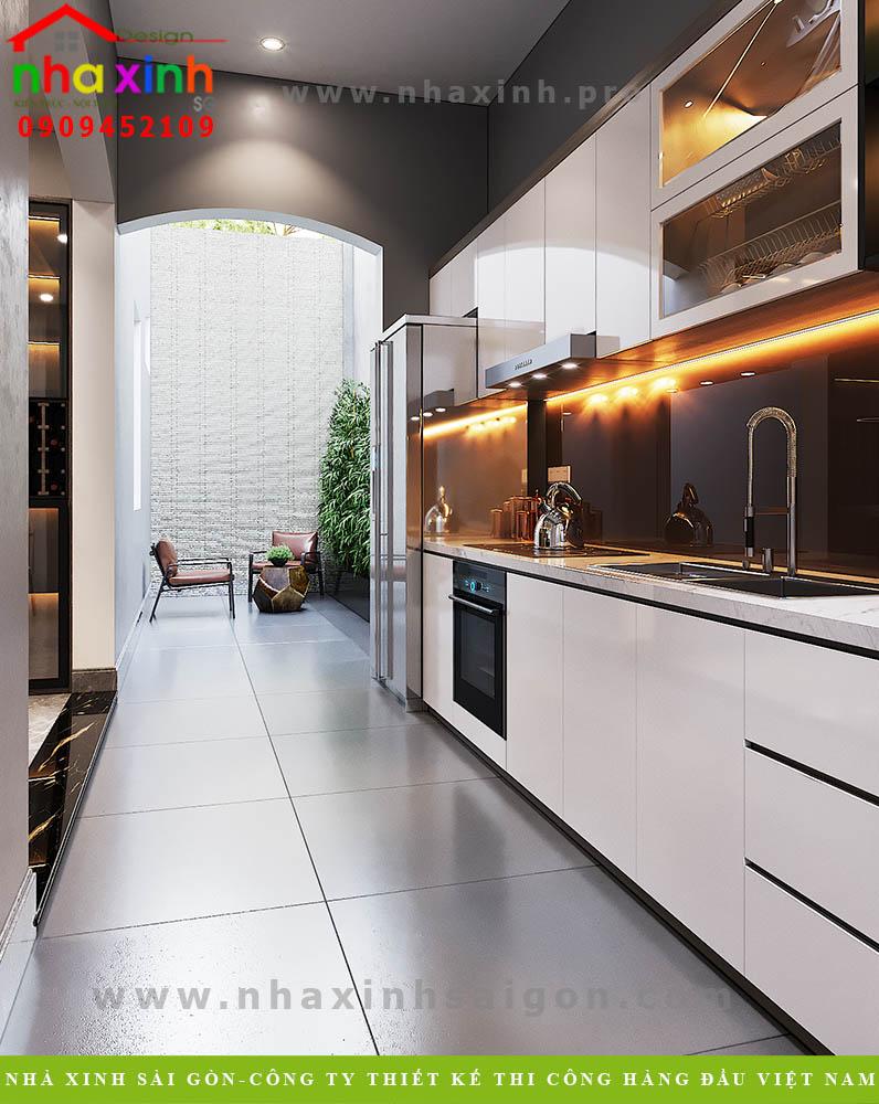 Thiết kế phòng bếp biệt thự 3 tầng