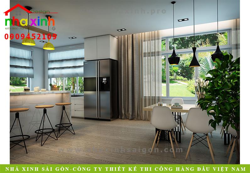 Phòng bếp biệt thự 3 tầng hiện đại | Chị Linh. Ảnh 1