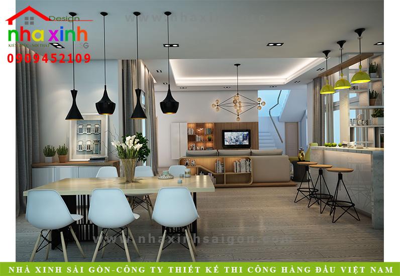 Phòng bếp biệt thự 3 tầng hiện đại | Chị Linh. Ảnh 2