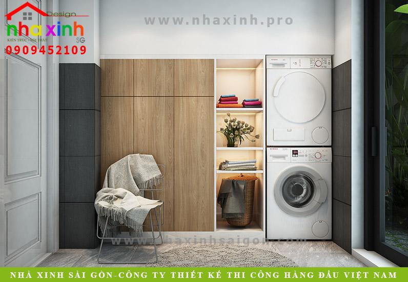 Thiết kế phòng giặt đồ cho căn biệt thự