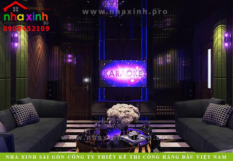 Thiết kế phòng Karaoke biệt thự 4 tầng