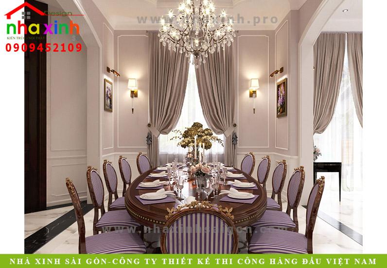 Thiết kế phòng ăn của căn biệt thự