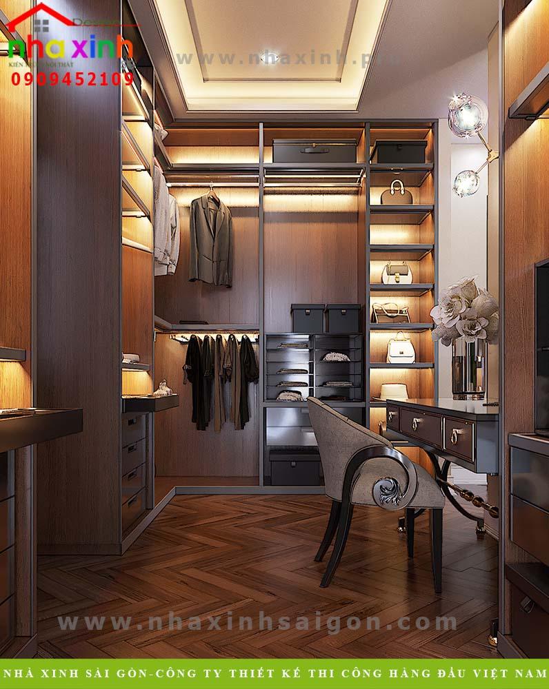 Nội thất phòng ngủ master biệt thự 4 tầng