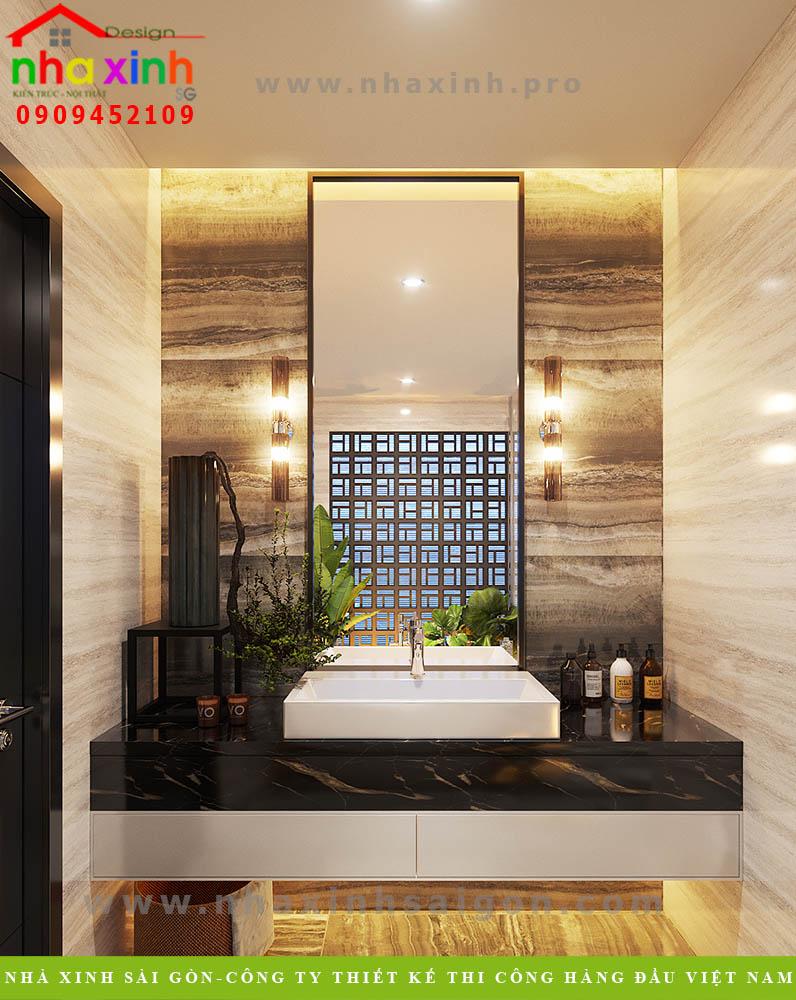 Nội thất phòng tắm master nhà phố tân cổ điển
