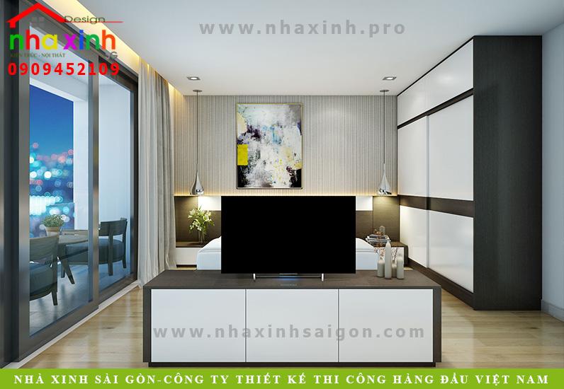 Phòng ngủ biệt thự 3 tầng hiện đại  Chị Phương. Ảnh 10