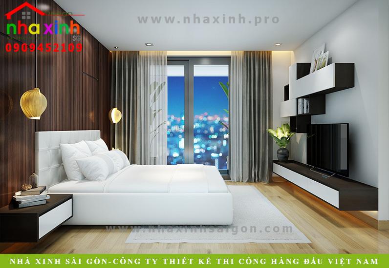 Phòng ngủ biệt thự 3 tầng hiện đại  Chị Phương. Ảnh 4