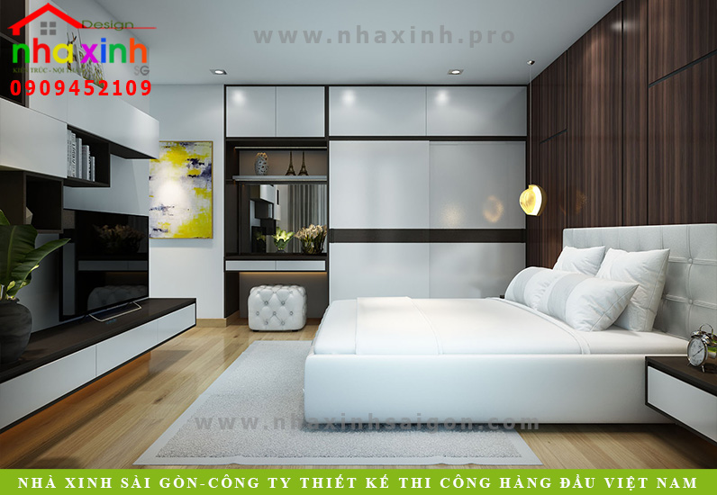 Phòng ngủ biệt thự 3 tầng hiện đại  Chị Phương. Ảnh 6