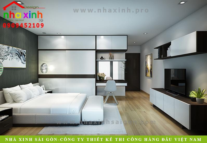 Phòng ngủ biệt thự 3 tầng hiện đại  Chị Phương. Ảnh 8