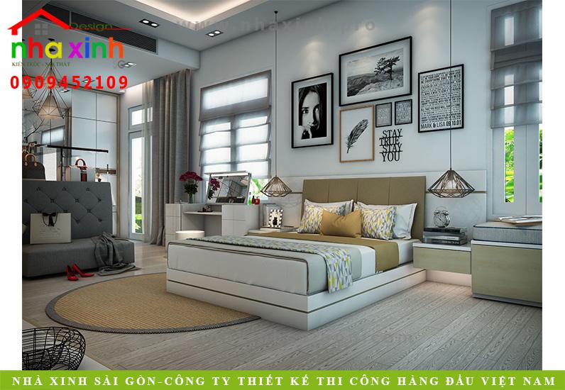 Phòng ngủ biệt thự 3 tầng hiện đại | Chị Linh. Ảnh 1