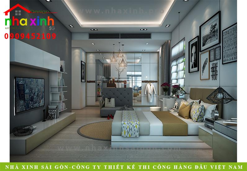 Phòng ngủ biệt thự 3 tầng hiện đại | Chị Linh. Ảnh 3